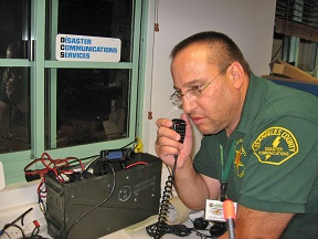 Stuart Gorsky, Director of the Gardena Disaster Communications Service. T-61 La County Disaster Communications Service